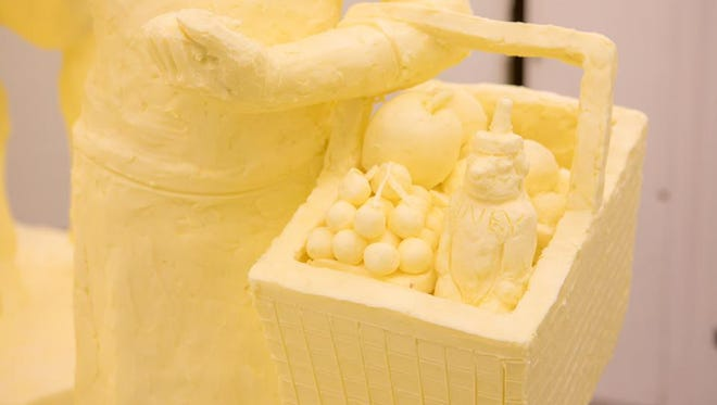The sculpture was made from nearly half a ton of butter.