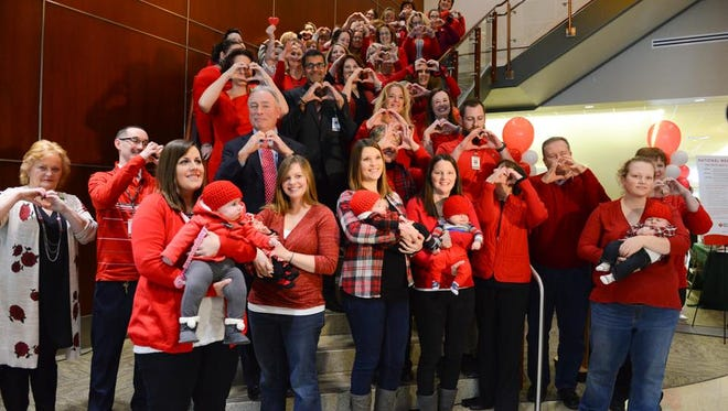 Many staff members of UHS wore red on Feb. 2 for 'Wear Red Day.'