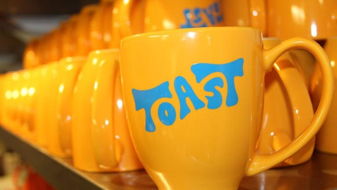 Bright colors and that '70s font mark the interior of Toast, the new brunch restaurant at 231 S. 2nd St. in Walker's Point. It opens to the public March 5.