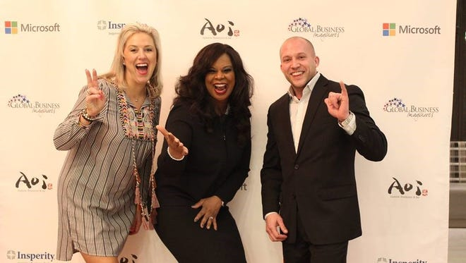 (Left to right)Jennifer Anderson, Insperity; Dr. Jamillah Mantilla, Global Business Imagineers; and David A. Breuder, Insperity.