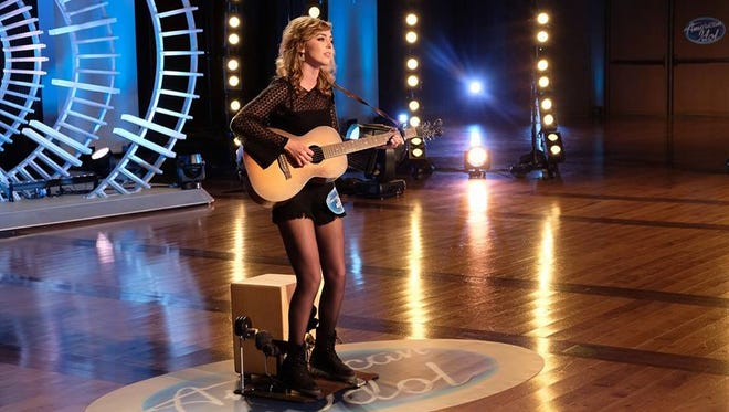 """Lansing's Rachel Curtis during her Nashville audition in front of """"American Idol"""" judges. The Waverly High School graduate received a ticket to the next round of competition in Hollywood."""