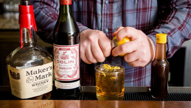 What goes into a Manhattan Skyline, a Restaurant Week cocktail at Metropole