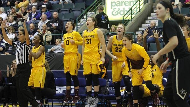 ASU women's basketball rebounded from its first loss to beat Vanderbilt 72-67 Sunday for third in the Gulf Coast Showcase.