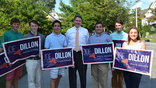 State Senate candidate Joe Dillon and supporters.