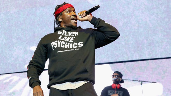 Recording artist Pusha T performs onstage at night one of the 2017 BET Experience STAPLES Center Concert, sponsored by Hulu, at Staples Center on June 22, 2017 in Los Angeles, California.  (Photo by Bennett Raglin/Getty Images for BET)
