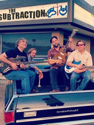"""The Subtractions (from left, Jeremy Scott, Steve Barnat, Alex Greene, Mike Michaud) will perform """"The Kinks Are the Village Green Preservation Society"""" at Bar DKDC on Friday."""
