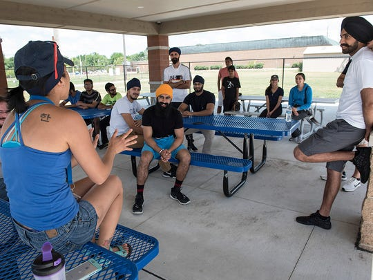 Rachel Koelzer offers advice to the Miracle League