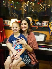Maegan Berard Rankin shares some studio time with her