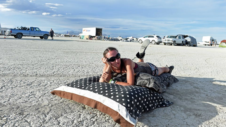 Burners arrive early on the playa Friday, Aug. 28,