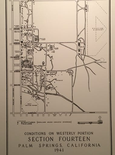 A map of Section 14 from 1941.