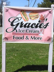 Gracie's sign is off Ohio 13 on the south end of Somerset.