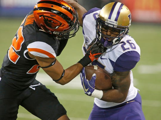 Washington tailback Salvon Ahmed was expected to play a much bigger role than he has so far this year.