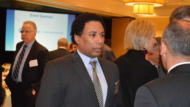 Lawrence Otis Graham at a Westchester County Association breakfast in Tarrytown.