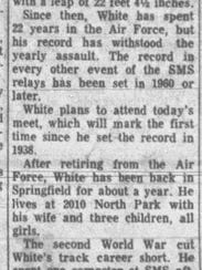 This story about Charles White was published on April