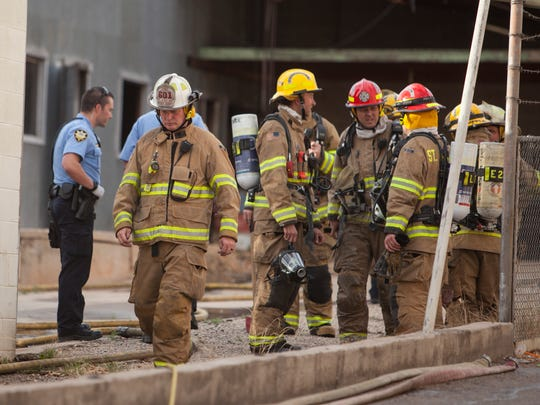 St. George firefighters respond to a suspicious warehouse