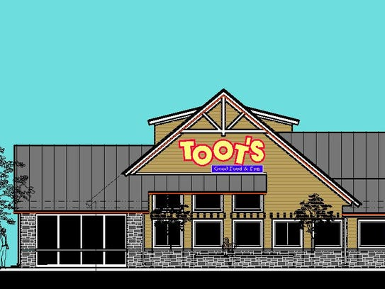 This is a rendering of the new Toot's West, which will
