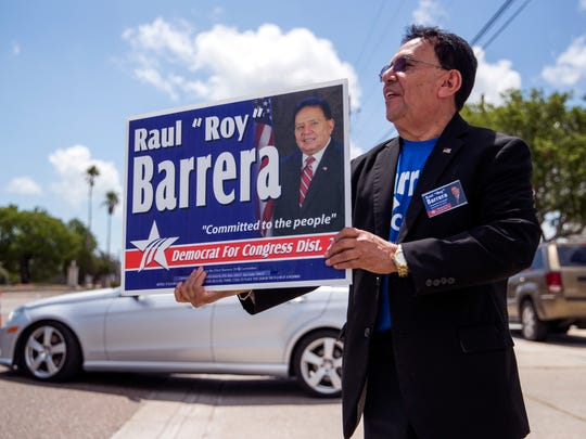 "Raul ""Roy"" Barrera, a candidate for the Democratic"