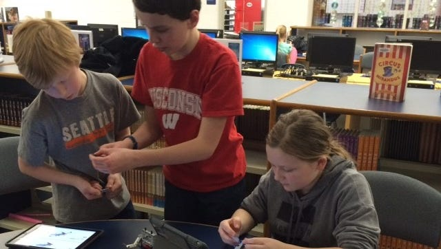 For DCE Middle School students who participate in the LEGO Mindstorms club, creative collaboration is key to solving complex engineering problems.