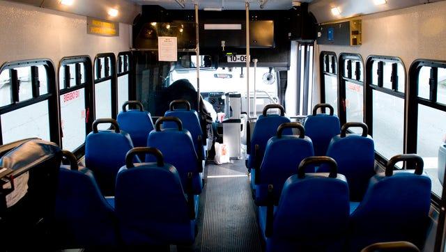 Interior of a METS bus.
