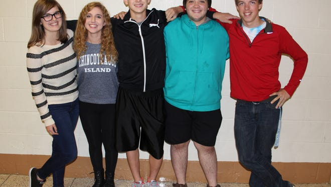 The leads in Brockport High's upcoming production of Les Misérables. From left, Shay Gauthier (Eponine), Brianna Halladay (Cosette), Josh Craig (Marius), Benjamin Monacelli (Jean Valjean) and Benjamin Wittman (Javert) provided photo
