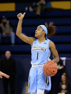 Marquette guard Danielle King directs the offense.