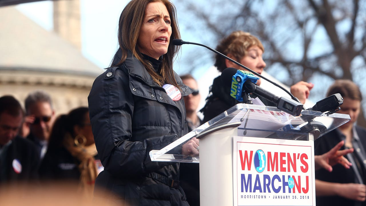New Jersey's First Lady Tammy Murphy reveals she was sexually assaulted in remarks at Morristown Women's March on Saturday, Jan. 20, 2018.