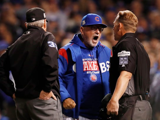 Joe Maddon was ejected for arguing a foul ball call