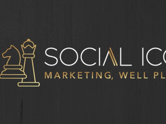 The new logo for Bri Snellgrove's company, Social ICON: Marketing Well Played.