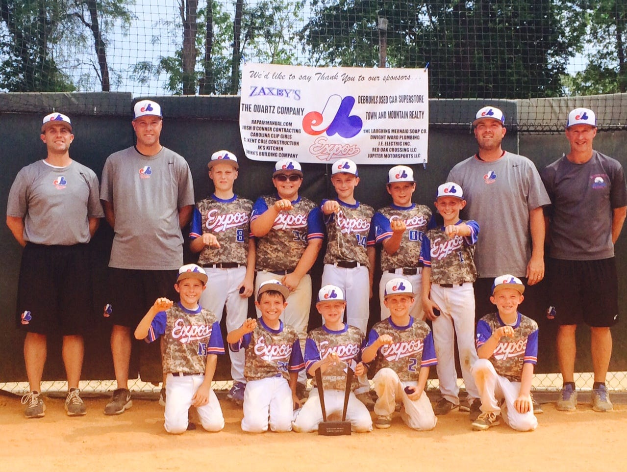 The Mountain Expos 10 and under baseball team won the Taco Bell Mountain Frenzy tournament held over the weekend at Jackson Park in Hendersonville.