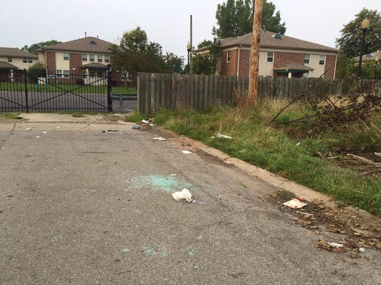 Shattered glass marks the spot where a teen-aged carjacking