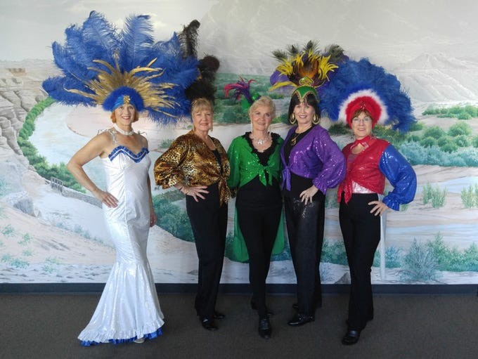 Some of the Mesquite Showgirls show off the variety
