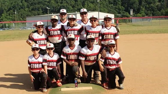 The Asheville Storm 10 and under baseball team won the Battle at the Border tournament held June 18 and 19 in Canton.