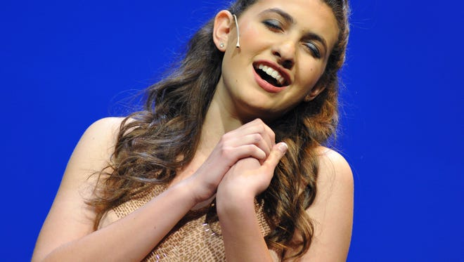 Rose Arbittier, winner of York County and Pennsylvania's Distinguished Young Women program, sings for the talent category at the state competition last August. She recently competed in the national event in Alabama and won a $1,000 scholarship.