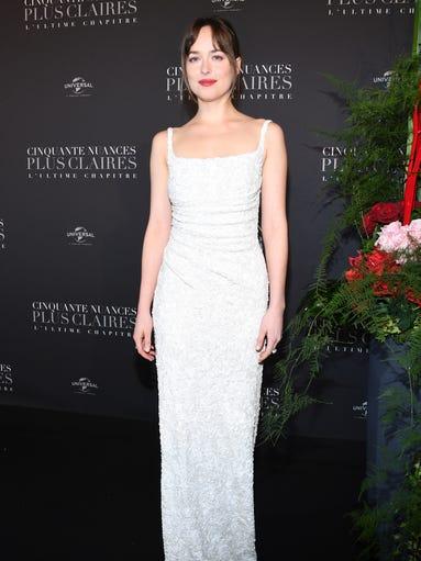 PARIS, FRANCE - FEBRUARY 06:  Dakota Johnson attends