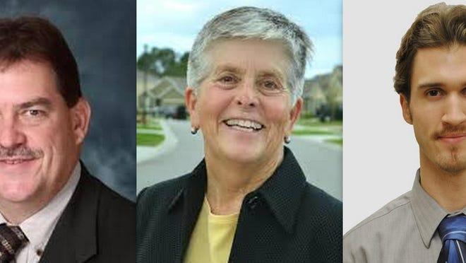 Three candidates for Port Orange mayor are, from left, incumbent Don Burnette, Sarah Jones and Derek LaMontagne.