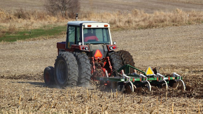 With warmer spring temperatures finally arriving, field work is beginning and this farmer near Eau Claire is one of the first to start chisel plowing.