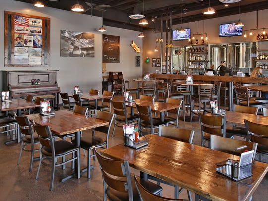 The interior of Saddle Mountain Brewing Company as seen in Goodyear.
