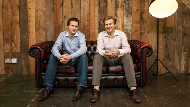TransferWise founders Taavet Hinrikus (right), who was Skype's first employee, and Kristo Käärmann, two Estonians taking on the often high fees charged by banks to shuttle money around the globe.