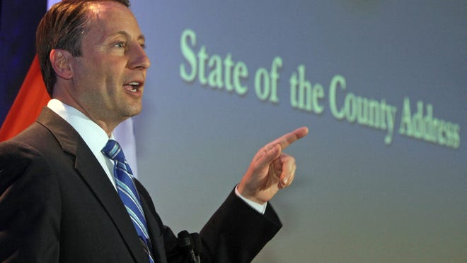 Westchester County Executive Rob Astorino delivers the 2014 State of the County address at the Westchester County Courthouse May 1.