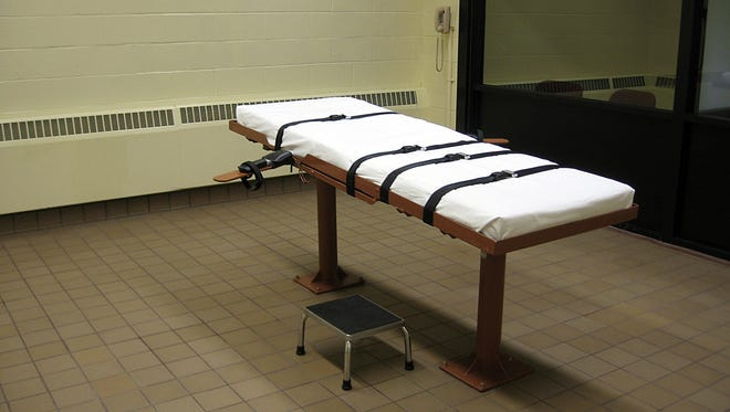 "The execution chamber of the ""death house"" at the Southern Ohio Correctional Facility in Lucasville,Ohio"