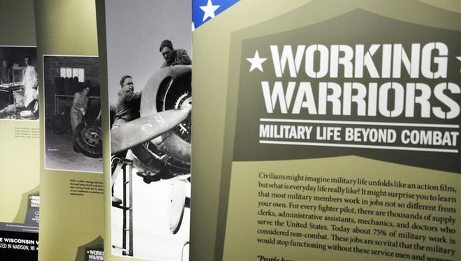 """Working Warriors: Military Life Beyond Combat,"" an exhibit from the Wisconsin Veterans Museum,"" will be on display in the Portage County Public Library through Feb. 12."