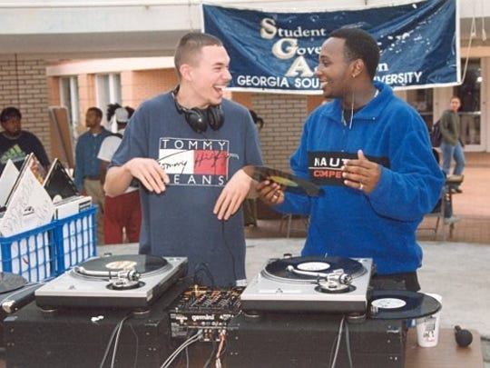 Dolewite and Scooby DJ a college party when both were students at Georgia Southern in the late 1990s.