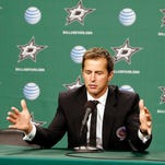 Mike Modano talks about his time in the NHL during a news conference Nov. 22, 2014, in Dallas.