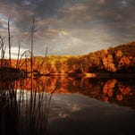 Trees in Mendon Ponds Park were resplendent in their fall finery in this photograph from October 2013.