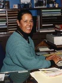 New Bedford educator Marial Harper (1934-2016) positively impacted many lives at New Bedford High School, and was the first woman and minority to be appointed a Housemaster there. Of Mashpee Wampanoag and Cape Verdean descent, she became active with the Mashpee Wampanoag as a member of its Council of Elders in her retirement.  [Photo courtesy of Dembitzki Family] Sydni Coulson narrated Marial Harper's video.