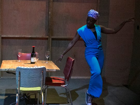 """Tisiphani Mayfield performs in Wild Space Dance's """"Artifacts,"""""""