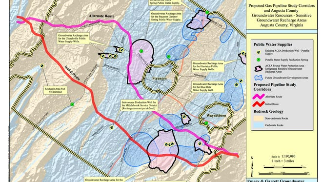 Augusta County water resource map