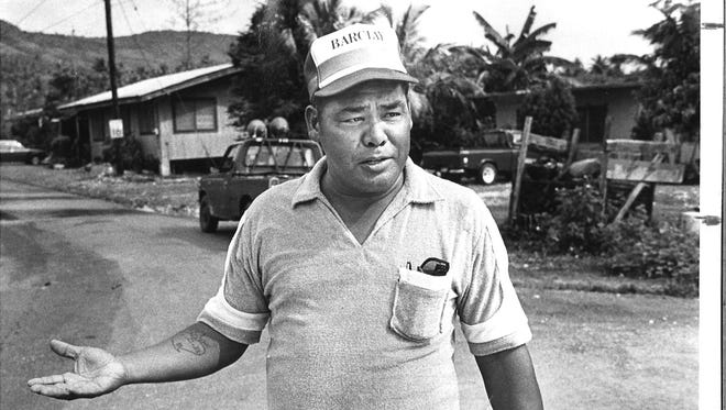 In this file photo, former Agat Mayor Antonio Babauta talks about the flooding in his village due to a drainage ditch that wasn't properly maintained.