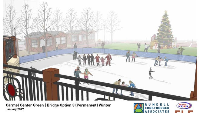 Carmel plans to build an ice-skating rink at The Center for the Performing Arts.