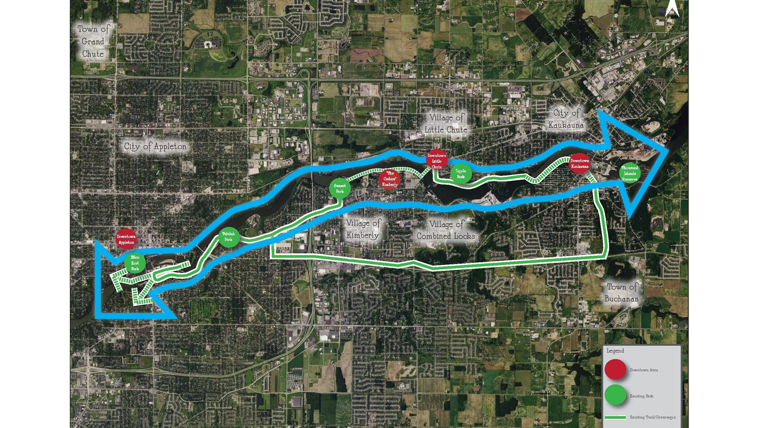 plan would create trail system along fox river